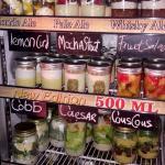 #Salads and #desserts Jars