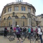 Getting the low down outside Radcliffe Camera