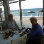 12 Salads, warm rolls and a whole fish - delish!! - By the sea at Benny Hadayag, Israel