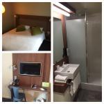 Chambre spacieuse - bureau sympa - grande salle de bain