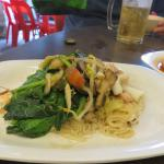 Seafood, vegetable and vermicelli combo