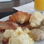 Alguns itens do café da manhã