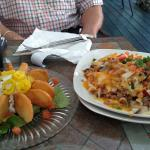 McConell's Pom Pom on left - Cheese fries on right.