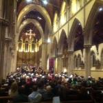 St John's Cathedral during a concert by the University of Portsmouth Choir
