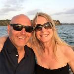 Us on a 'Dow' trip in Kilifi Creek at sunset .... a must!!