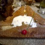 crêpe lardons crème, fromage