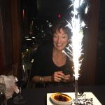 Birthday celebration for my wife Lucy!!!! Nice touch.