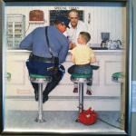 Rockwell's painting set in the diner