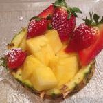 La cena il hotel - Ananas e fragole
