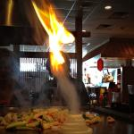 "During one hibachi meal, this ""fire angel"" appeared!"