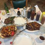 Sweet & sour pork, beef & pea pods, Szechuan eggplant kept us very happy