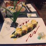 Isn't this mango sushi gorgeous?  And it tasted as good as it looks!
