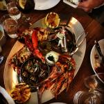 Warm seafood platter