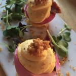Beet Deviled Eggs - as delicious as they are beautiful.