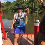 Chalana no rio - piranha