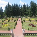 A view of anothe garden from the mansion