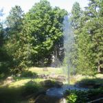 A fountain display in the garden