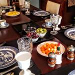 This a small view of the gorgeous table setting and fabulous breakfast served daily!