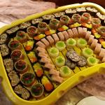 the only thing fishy on this sushi platter is the canned tuna meat.