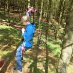 My son tried to do all the high ropes activities with no hands!