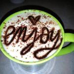 The Tiramisu latte......one of many delicious lattes available!