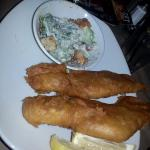2 piece Fish & Chips $16.99 (its NOT Halibut- Its plain haddock) with NO fries