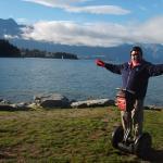 A shot of Lake Wakatipu in the background.