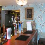 The bar at The Exhibition Pub, Godmanchester (25/Apr/16).