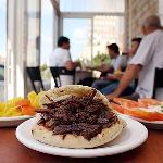 pita Shawarma and pickles