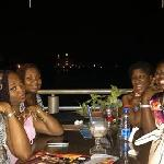 My friends and I at the Lagoon Restaurant