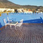 Terrace and view of Chefchaouen