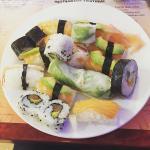 melange de sushis, bons , frais et variés