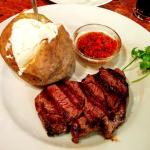 Ribeye Steak with a Baked Potato and Sour Cream
