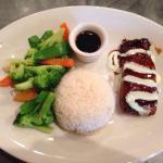 Wasabi Salmon w steamed rice