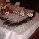 Les poissons locaux proposés le soir pour des grillades