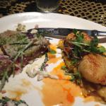 seared ahi tuna and spicy scallops