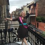 Outside our balcony celebrating my big 50 in the Big Easy!