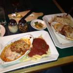 Chicken Parm with Ziti and Spaghetti. Excellent food and service!