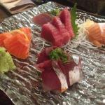 Sashimi on a platter