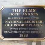 Historical plaque near entrance