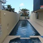 The lap pool and jacuzzi