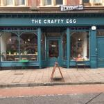 View of the front of The Crafty Egg