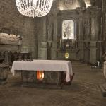 The alter of this amazing The Wieliczka Salt Mine, St. Kinga's Chapell