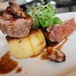 Gower rump of Lamb Confit shallot, fondant potato, red currant jus
