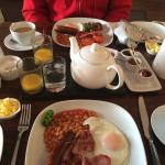 Lovely cooked breakfast - can choose from lots of options. Fresh pot of tea and toast too.