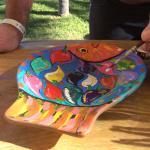 Poolside ceramic activity.
