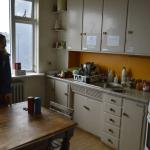 The hostel kitchen - a little dirty and compact