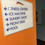 Fitness Center is small but there is a pool.