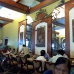 Beautiful decor inside the restaurant