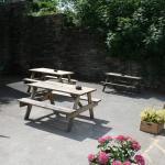 Outside beer garden